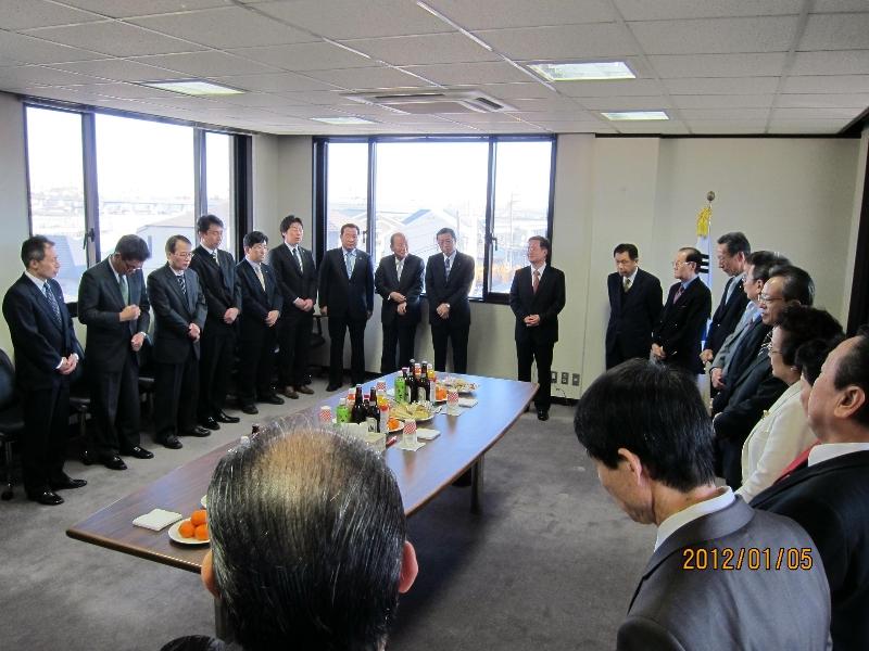 駐横浜総領事館、同胞組織幹部新年初顔合わせ1