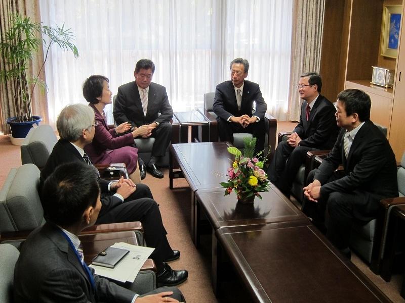 1月8日、横浜市 林文子市長 新年礼訪